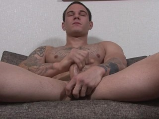 ActiveDuty Young Army Hunk Jerks Off