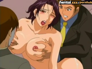 Busty MILF's unexpected double penetration - Hentai.xxx [ENG SUB]