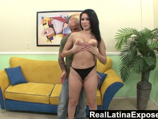 RealLatinaExposed - Brazen Latina gets a big load on her camel toe