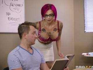 Naughty teacher Anna Bell Peaks loves cock - Brazzers
