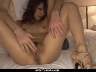 Sensational scenes of raw Asian porn with Aya Sakuraba