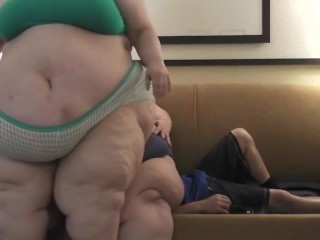 BigmommaKat & Kimmy Use Herman as a Sofa