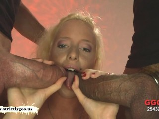 Cute Lucie loves Monster Cocks - German Goo Girls