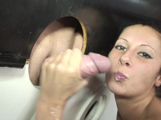 Dirty and funny GloryHole in swinger club