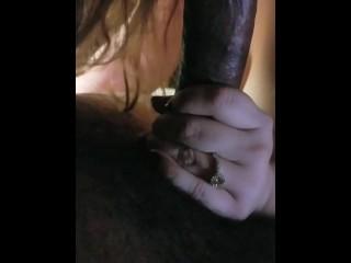 Girlfriend sucks my dick