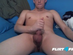 European Hunk Tristian Daily Cums On His Own Face
