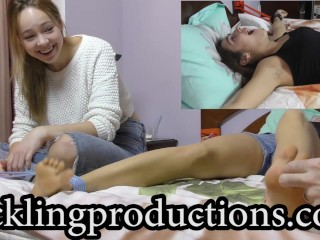 Tickling Elizabeth K part 3 - Her feet - clip is 06:08 min long -