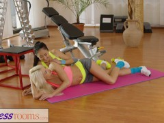 Fitness Rooms Naughty Asian babe fucks fit and firm gym milf after class