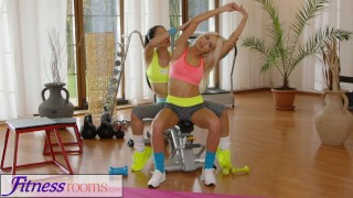 Fitness Rooms Naughty Asian babe fucks fit and firm gym milf after class russian milf asian exercise blonde lycra fitnessrooms lesbian workout fitness gym girl-on-girl czech