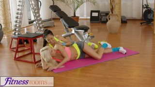 Fitness Rooms Naughty Asian babe fucks fit and firm gym milf after class girl on girl russian milf asian exercise blonde lycra fitnessrooms lesbian workout fitness gym czech