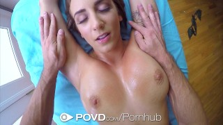 POVD Stunning Layla London big tits massage in POV  hardcore brunette povd hd babe pov blowjob massage oiled busty