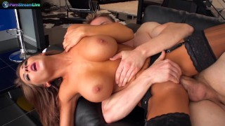 Huge titted Madison Ivy spreading wide for hardcore fuck
