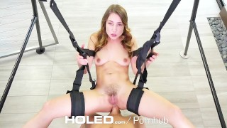 HOLED Taylor Sands asshole fucked on the sex swing  brunette anal sex anal holed sex-swing taylor-sands anal creampie dutch masturbation pussy-licking hd blowjob