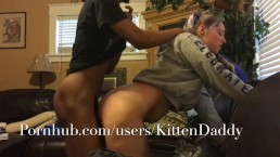 Fucking A White Thot On The Couch - KittenDaddy