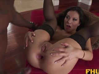 Fhuta - Huge black cock splits tight Asian ass