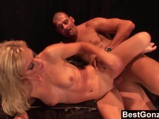 BestGonzo - Bratty Angela Stone Lets Her Fan Fuck Her