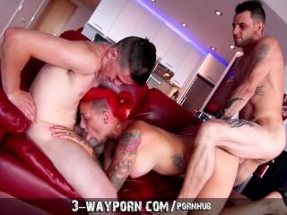 3-Way Porn - Real-Life Father & Son Fuck Pornstar in Nasty Threesome