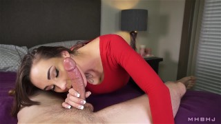Sasha Foxxx, In your face! the-pose mhb point-of-view mark-rockwell cock-sucking cumshot edging marks-head-bobbers tattoo brunette orgasm slow-teasing-blowjob mhbhj sasha-foxxx