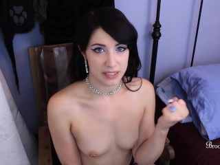 Hot Teen With Perky, Pierced Nipples Wants Your To Jerk Off On Her Tits