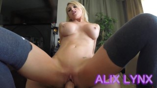 Alix Lynx - Blackmailed by Dad  kink step-dad blackmail daughter big-tits cumshot fake-tits step-daughter blonde