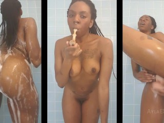 image Ayla oiling up my beautiful brown body