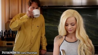 Elsa Jean Makes Stepdad her Daddy!  teen blonde peternorth cumshot daddy step-daughter young stepdad daughter petite shaved older-younger small-tits teenager doggystyle