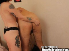 Sissy Boy Pegged by Strap On Princess and Mistress in Ass