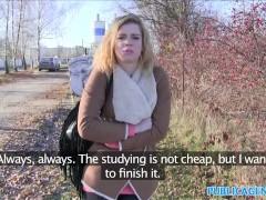 Public Agent Hot Lost blonde sucks stranger's cock for cash