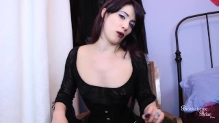Bitchy Goth FemDom Makes You Suck Her Cock While You Stroke Your Dick  goth girls femdom strapon strapon femdom bi training domination joi encouragement young kink joi brookelynnebriar bi humiliation brookelynne briar cum encouragement edging instruction jerk off instruction