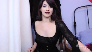 Bitchy Goth FemDom Makes You Suck Her Cock While You Stroke Your Dick  goth girls edging instruction bi humiliation femdom strapon strapon femdom bi training domination joi encouragement young kink joi brookelynnebriar brookelynne briar cum encouragement jerk off instruction