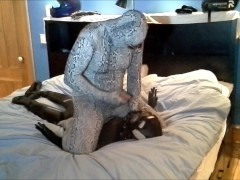 zentai snake humps and shoots or orca frogman