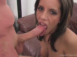 Brunette babe fucks a guy from the internet
