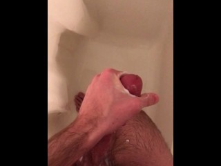 Shower Wank Thick Cock