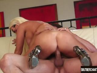 Big tittied blonde pornstar fucked