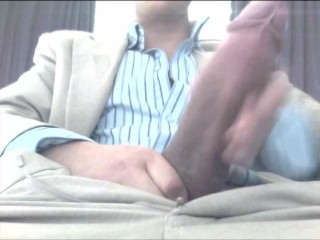 Big White Cock at the office