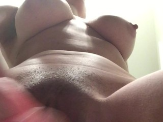 Big tits bouncing on dildo