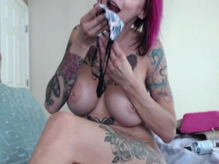 Panty Stuffing With A Big Squirt