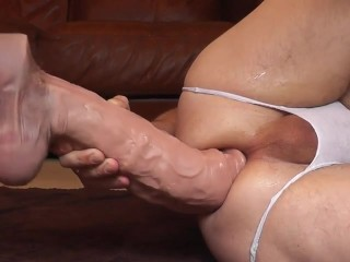 GIANT HOMEMADE DILDO ANAL #3