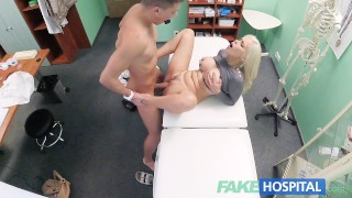 Image Fake Hospital Hot Italian babe with big tits has intense multiple orgasms