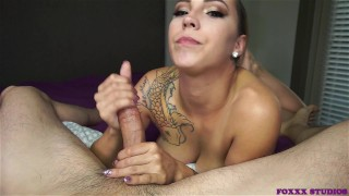 I love sucking the cum out of his cock  feet swallow the-pose cum-in-mouth ocp oral-creampie sasha-foxxx point-of-view blowjob mark-rockwell pornstar