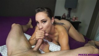 I love sucking the cum out of his cock