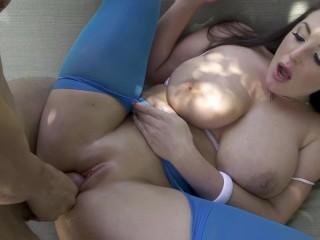 Angela White Foot Fetish Nylons