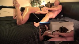 HOT WIFE HAS 3 WAY- HUSBAND AN