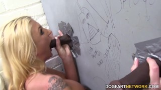 Leya Falcon Squirts All Over BBC - Gloryhole  big black cock big tits blonde blowjob gloryhole pornstar fetish busty hardcore kink squirting interracial dogfartnetwork deepthroat orgasm big boobs glory hole huge tits