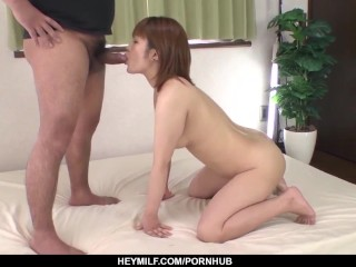 Kaho Kitayama heats hubby with young man?s cock
