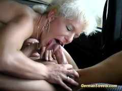 german picked up for car sex