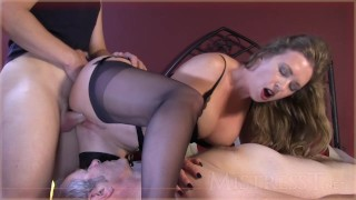 mistress t cleaning_cuckold_hubby heels mistress-t stockings talk