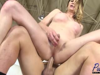 Busty MILF Marcy fucks a lucky guy