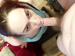 PAWG Babysitter Innocence Suckin Her Juices Off Daddy's Cock To Keep Job #3