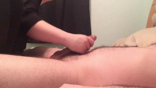 Wife gives husband ruined handjob  tease and denial wife handjob ruined handjob femdom handjob multiple cumshots cfnm handjob teasing amateur handjob cfnm handjob edging edging handjob multiple orgasm teasing handjob ruined orgasm amateur wife handjob